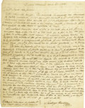 Autographs:Non-American, [Power and Hewetson Colony] James Hewetson Autograph Letter Signed...