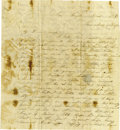 Autographs:Military Figures, Jacob Z. Hoffer Autograph Letter Signed about the End of theMexican War. ...