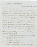 Miscellaneous:Ephemera, Secretary of War William L. Marcy 1847 Signed Letter ConcerningOfficer Assignments in New Orleans....