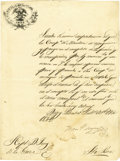 Autographs:Military Figures, General Francisco Mejia Letter Signed Regarding Preparations for Repelling the Mier Expedition. ...