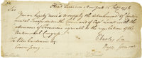 Letter Signed by Major General Charles Lee