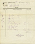 Transportation, Mier, Mexico, to Port of Roma, District of Corpus Christi, Texas,Invoice for Horses and Mules,...