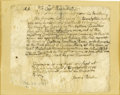 Military & Patriotic:Revolutionary War, French and Indian War Autograph Letter Signed, ...