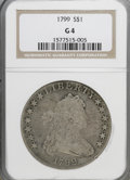 Early Dollars: , 1799 $1 7x6 Stars G4 NGC. NGC Census: (7/1413). PCGS Population(6/2151). Mintage: 423,515. Numismedia Wsl. Price for NGC/P...