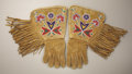 American Indian Art:Beadwork and Quillwork, A PAIR OF NORTHERN PLAINS BEADED HIDE GAUNTLETS. c. 1910 . ...(Total: 2 Items)