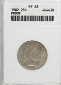 Proof Barber Quarters: , 1902 25C PR63 ANACS. NGC Census: (34/135). PCGS Population (41/107). Mintage: 777. Numismedia Wsl. Price for NGC/PCGS coin ...