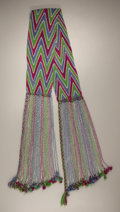 American Indian Art:Beadwork and Quillwork, AN OSAGE YARN AND BEAD SASH. c. 1910...