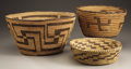 American Indian Art:Baskets, THREE SOUTHWEST COILED BASKETS. c. 1930... (Total: 3 Items)