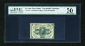 Fractional Currency:First Issue, Fr. 1240 10c First Issue PMG About Uncirculated 50....
