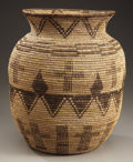 American Indian Art:Baskets, AN APACHE COILED STORAGE JAR. c. 1920...