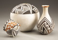 American Indian Art:Pottery, . THREE ACOMA POTTERY ITEMS. Two by Lucy M. Lewis. c. 1950...(Total: 3 Items)