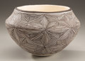 American Indian Art:Pottery, AN ACOMA BLACK-ON-WHITE JAR. Lucy M. Lewis. c. 1960...