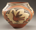 American Indian Art:Pottery, A ZIA POLYCHROME JAR. Sofia Medina. c. 1975...