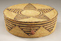 American Indian Art:Baskets, A PAPAGO COILED AND LIDDED BASKET. c. 1930...