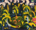 Fine Art - Painting, Russian:Modern (1900-1949), VASILY GOLUBEV (Russian, 1925-1985). Winding River, 1975.Oil on board. 18 x 22 inches (45.7 x 55.9 cm). Signed lower ri...