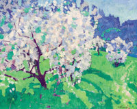 NIKOLAI EFIMOVICH TIMKOV (Russian, 1912-1993) Flowering Apple Tree , 1973 Oil on board 32 x 39 in