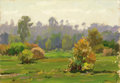 Fine Art - Painting, Russian:Contemporary (1950 to present), NIKOLAI ULIANOV (Russian, b. 1922). Early Autumn, 1958. Oilon board. 6-1/4 x 9 inches (16.0 x 22.9 cm). Inscribed verso...