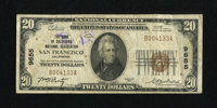 San Francisco, CA - $20 1929 Ty. 1 The Bank of California National Assoc Ch. # 9655 The bank officers are W.R. Pentz an...