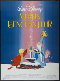 """The Sword in the Stone (Warner Brothers, R-1980s). French Grande (47"""" X 63""""). Animated"""