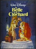 "Movie Posters:Animated, Lady and the Tramp (Warner Brothers, R-1988). French Grande (47"" X63""). Animated...."