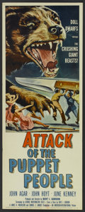 "Movie Posters:Science Fiction, Attack of the Puppet People (American International, 1958). Insert(14"" X 36""). Science Fiction...."