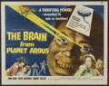 "Movie Posters:Science Fiction, The Brain From Planet Arous (Howco, 1957). Half Sheet (22"" X 28"").Science Fiction...."