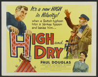 """High and Dry (Universal International, 1954). Half Sheet (22"""" X 28""""). Also known as The Maggie. Comedy"""