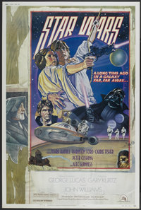 """Star Wars (20th Century Fox, 1977). Poster (40"""" X 60"""") Style D. Science Fiction"""