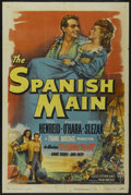 "Movie Posters:Adventure, The Spanish Main (RKO, 1945). One Sheet (27"" X 41"") Style A.Adventure...."