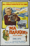 "Movie Posters:Crime, Ma Barker's Killer Brood (Film Service Distributing, 1959). OneSheet (27"" X 41""). Crime...."