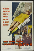 """Movie Posters:Science Fiction, The Man Who Turned to Stone (Columbia, 1957). One Sheet (27"""" X 41""""). Science Fiction...."""