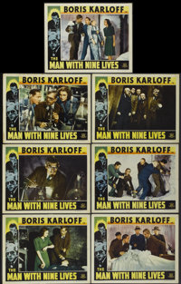 """The Man With Nine Lives (Favorite Films, R-1947). Lobby Cards (7) (11"""" X 14""""). Horror.... (Total: 7 Item)"""