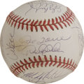 Autographs:Baseballs, 1999 New York Yankees World Champion Team Signed Baseball. Official orb from the 1999 World Series sports the signatures of ...