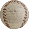 Autographs:Baseballs, 1945 Chicago White Sox Team Signed Baseball....