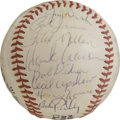 Autographs:Baseballs, 1970 Atlanta Braves Team Signed Baseball. The 1970 Atlanta Bravesroster was stacked with star talent, as will be seen with...