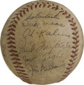 Autographs:Baseballs, 1955 Detroit Tigers Team Signed Baseball. The 1955 Detroit Tigersare represented by the magnificent creamy OAL (Harridge) ...