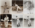 """Autographs:Photos, Vintage Baseball Stars Signed Photographs Lot of 9. With each ofthe nine 8x10"""" prints that we present here we are also ser..."""