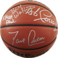 Basketball Collectibles:Balls, Boston Celtics Legends Multi-Signed Basketball. As the most-storiedorganization in the history of professional basketball ...