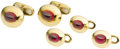 Estate Jewelry:Suites, Pink Sapphire, Gold Dress Set, Black Starr & Frost. ... (Total:5 Items)