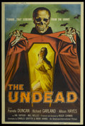 "Movie Posters:Horror, The Undead (American International, 1957). Poster (40"" X 60""). Horror...."
