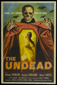 """The Undead (American International, 1957). Poster (40"""" X 60""""). Horror"""