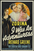 "Movie Posters:Crime, I Was an Adventuress (20th Century Fox, 1940). One Sheet (27"" X 41""). Crime...."