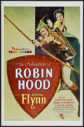 "Movie Posters:Adventure, The Adventures of Robin Hood (United Artists, R-1976). One Sheet(27"" X 41""). Adventure...."