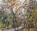 Fine Art - Painting, Russian:Contemporary (1950 to present), VIKTOR KOROVIN (Russian, 1936-1991). Autumn in the Village,1970. Oil on board. 20 x 23 inches (50.8 x 58.4 cm). Signed ...