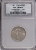 Coins of Hawaii: , 1883 25C Hawaii Quarter--Improperly Cleaned--NCS. UNC Details. NGCCensus: (3/580). PCGS Population (6/952). Mintage: 500,0...