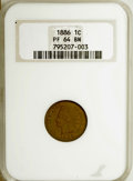 Proof Indian Cents: , 1886 1C Type One PR64 Brown NGC. NGC Census: (56/94). PCGS Population (59/51). Mintage: 4,290. Numismedia Wsl. Price for NG...