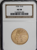 Indian Eagles: , 1926 $10 AU58 NGC. NGC Census: (248/22564). PCGS Population(434/20979). Mintage: 1,014,000. Numismedia Wsl. Price for NGC/...