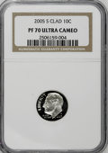 Proof Roosevelt Dimes, 2005-S 10C Clad PR70 Ultra Cameo NGC. PCGS Population (71/0).Numismedia Wsl. Price for NGC/PCGS coin i...
