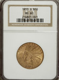 Indian Eagles: , 1910-S $10 MS60 NGC. NGC Census: (51/285). PCGS Population(19/377). Mintage: 811,000. Numismedia Wsl. Price for NGC/PCGS c...