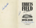 """Autographs:Letters, Autographed """"Ebbets Field, A Memoir"""" . A small twenty page bookdedicated to preserving the memory of the home of the Brookl..."""